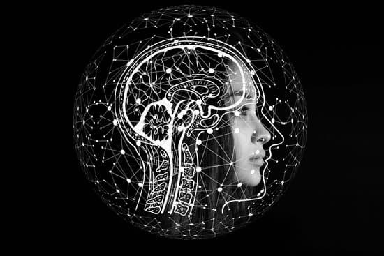 Image of woman's head sideways with a sketch of her brain and thoughts lighting up.
